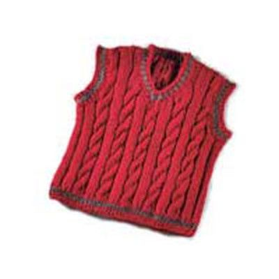 Valley Yarns 119B Daddy & Me Boy's Cabled Vest (Free) in Valley Yarns at Webs