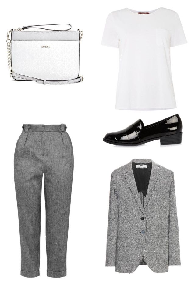 """Geen titel #1"" by shanisiavniel on Polyvore featuring mode, Topshop, MaxMara, STELLA McCARTNEY, GUESS en River Island"