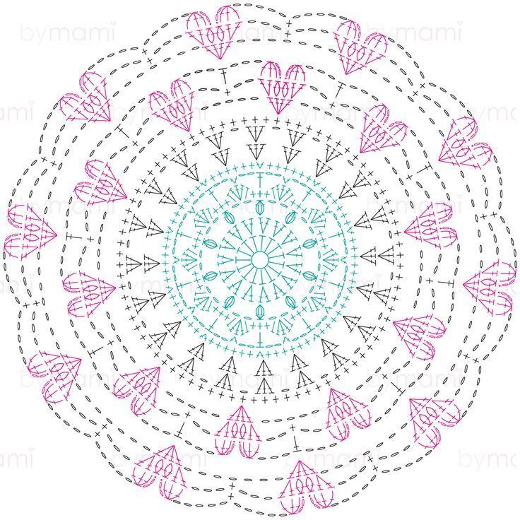 Mother S Day Mandala Crochet Doily Diagram Crochet