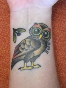 17 best images about first tattoo ideas on pinterest for Athena owl tattoo