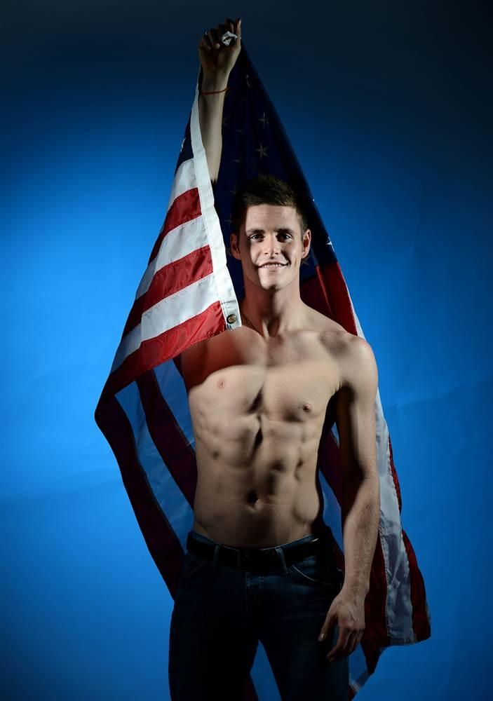 David Boudia. So... I'll be watching men's diving. ;) USA! USA!