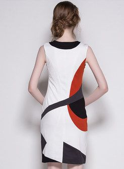 Shop for high quality Sleeveless Color Block Sheath Dress online at cheap prices and discover fashion at Ezpopsy.com