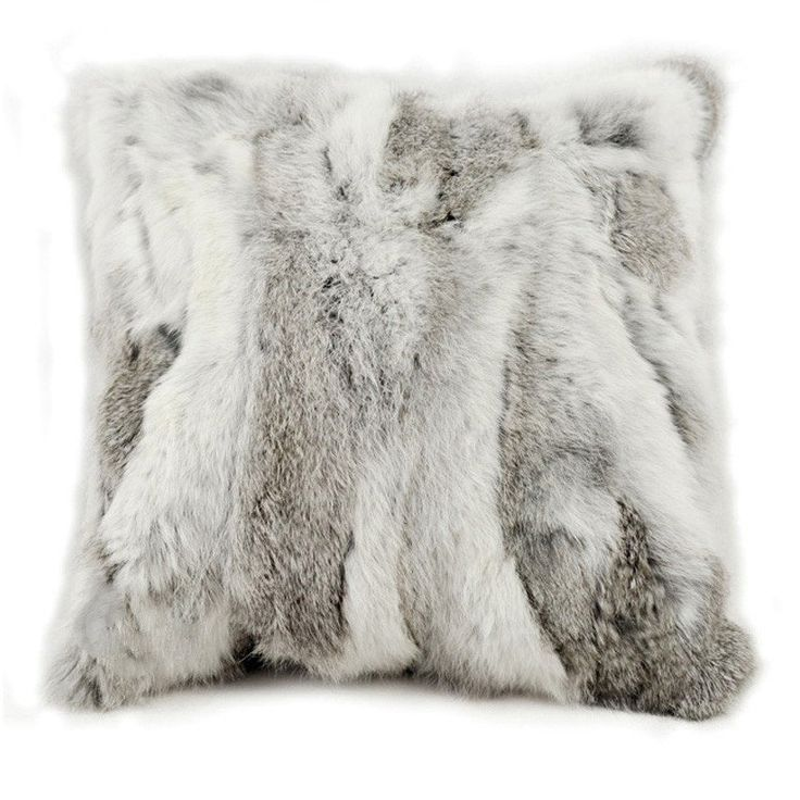 Features:  -Material: 100% Rabbit fur / Faux suede.  -Zipper closure, pillow is included.  -Made in the USA.  -Material: 100% Rabbit Fur/ Faux Suede.  -Cover Material: 100% Canadian Rabbit Fur.  Produ