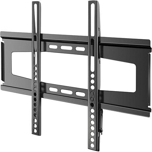 insignia fixed tv wall mount for most 19 39 flat panel tvs black wall mount flats. Black Bedroom Furniture Sets. Home Design Ideas