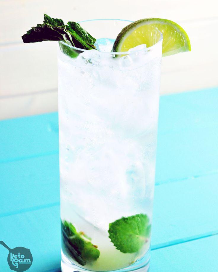 Sugar-Free Vodka Mojito   KETOGASM This drink tastes identical to the mojitos…