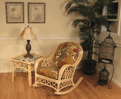 St Thomas Rattan Rocking Chair via @wickerparadise #rocking #fun #wicker #rattan #rockers www.wickerparadise.com