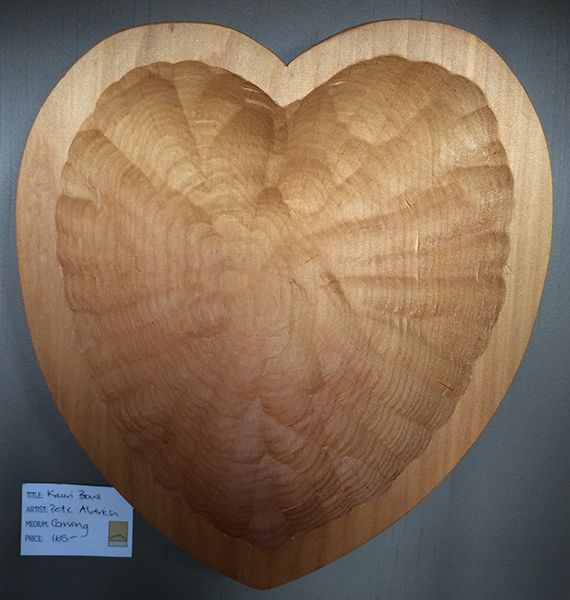 The little GALLERY of fine ARTS. Kauri Bowl or Wallhanging by Pete Aldrich  #kauri #wood #sculpture