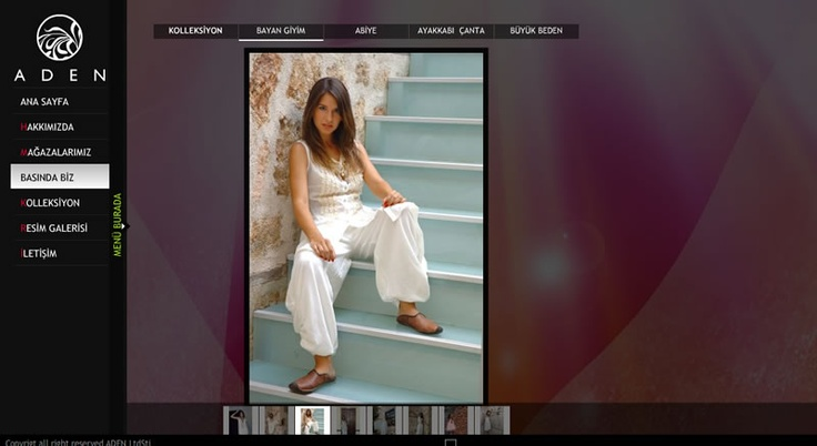 ADEN Fashion Co. Flash Website Design