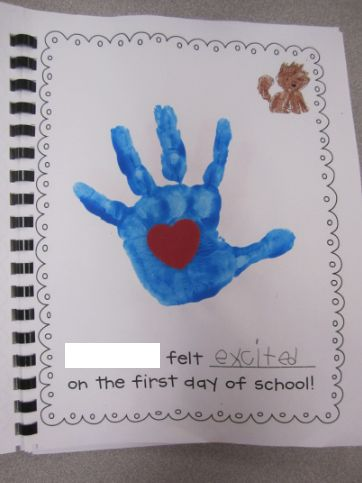Mrs. Parisi's Kindergarten Class: First Week of School with The Kissing Hand
