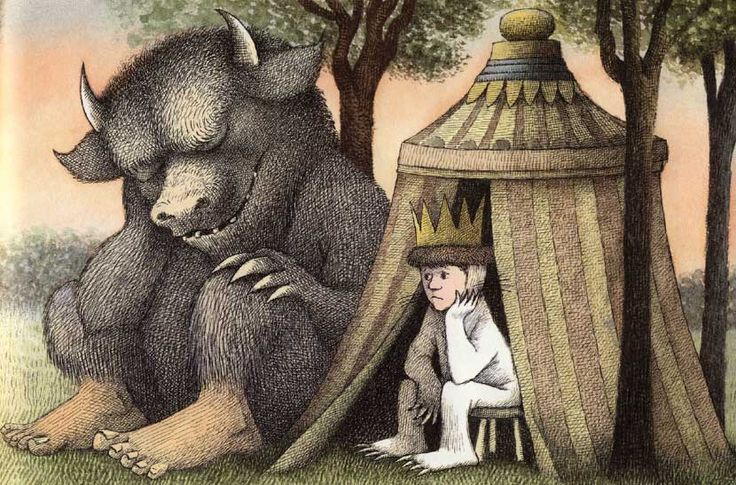 The Wild Things moved on today. :(Wild Things, Art, Mauricesendak, Maurice Sendak, Reading Nooks, Book Illustration, Ripped Maurice, Children Book, Amazing Illustration