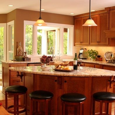 Angled Kitchen Island For Sale