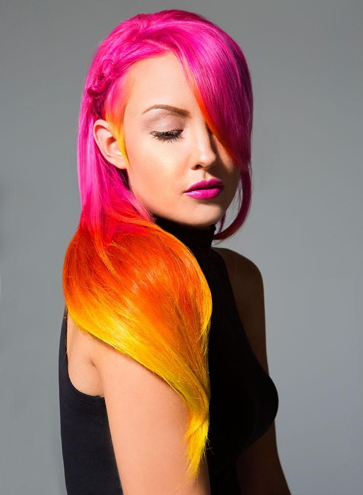 HOW-TO: Pink, Orange, Yellow Color Melting Technique by James Gartner | Modern Salon