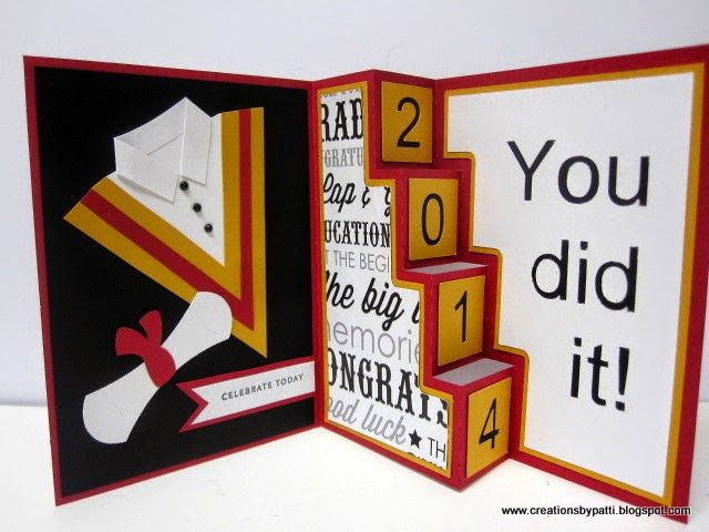 Delightful Card Making Ideas Graduation Part - 3: Creations By Patti: Graduation 4 Step Card. Template To Make Card: Http: