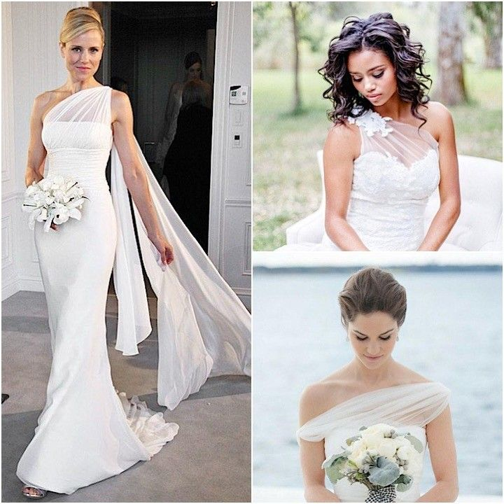 Stylishly Unique One Shoulder Wedding Dresses
