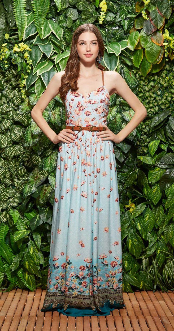 Vestido Longo Lótus da Tailândia | Lookbook | Antix Store