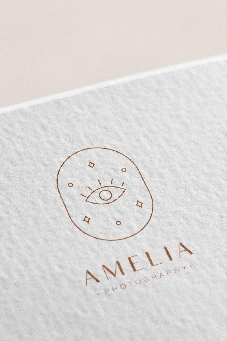 Eye Logo for Woman / Feminine Logo / Boho Logo / Minimal