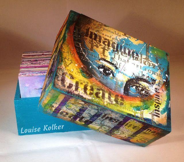 Follow me on my Art Journey: Doosje promptcards gepimpt/ Altered box for my promptcards