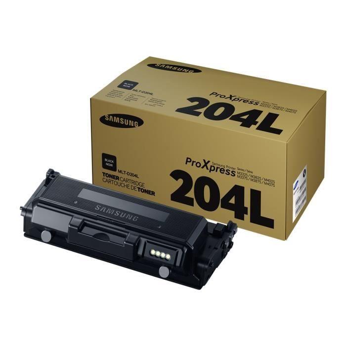 Cartouche de toner noir haut rendement Samsung MLT-D204L (SU929A) pour M3325/M3825/M4025/M3375/M3875/M4075