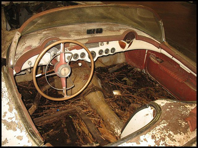 Barn Find 1954 Corvette Pulled From Field In Upstate New York