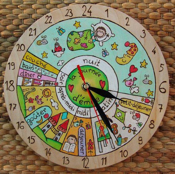 24 h quotidienne horloge votre enfant