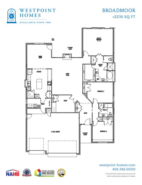 Big Kitchen Floor Plans This Threebedroom Plan Has Over 2200 Sqft A Large With Island Intended Design Decorating