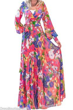 Floral Chiffon Maxi Dress  #dress #fashion #womensfashion