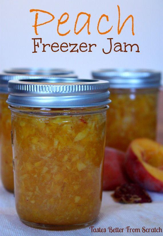 Peach Freezer Jam | Tastes Better From Scratch