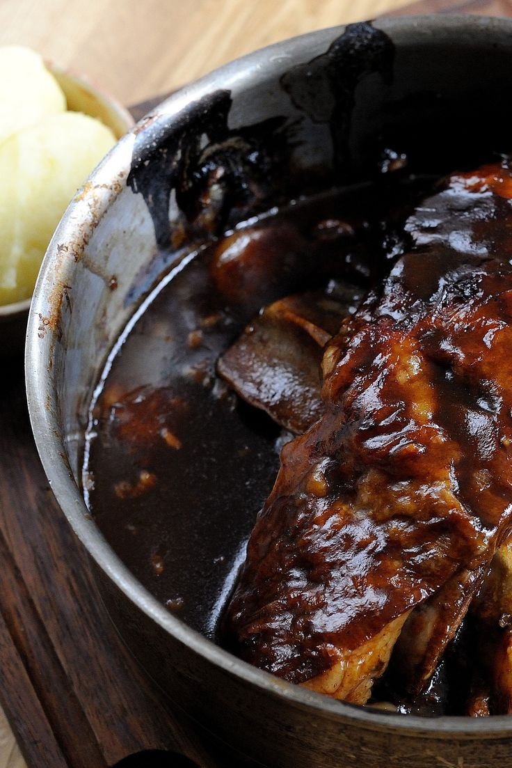 This hearty slow cooked lamb shoulder recipe, with its creamy mashed potato pairing, makes a wonderful and rustic lamb dinner. Slowly braising the lamb shoulder in a rich sauce, as Tom Aikens does here, ensures that the meat's full, immense flavour is drawn out. You can either slice or shred the meat from the bone to serve