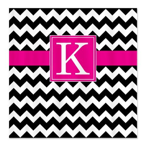 black white chevron shower curtain. Personalized Chevron Shower Curtain With Monogram Initial Black  White Hot Pink OR Choose Best 25 shower curtains ideas on Pinterest Yellow