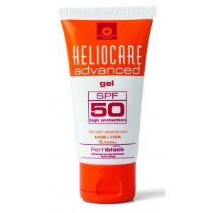 Heliocare Advanced Gel SPF 50 , fotoimunoproteção alta contra os raios UVB e UVA, com propriedades antioxidantes e reparadoras adicionais devidas ao Extrato de  Polypodium leucotomos  (Fernblock®).