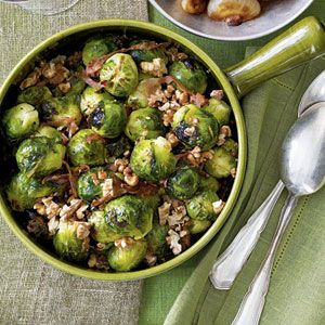 Brussels Sprouts With Prosciutto and Walnuts | MyRecipes.com #MyPlate #vegetable