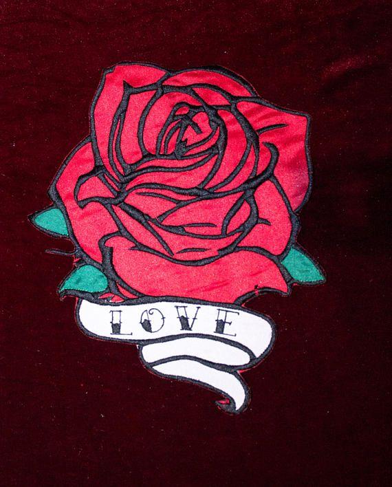 Rosa Tattoo Patch