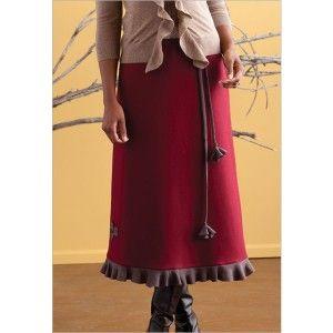 Ruffled A-Line Skirt | InterweaveStore.com