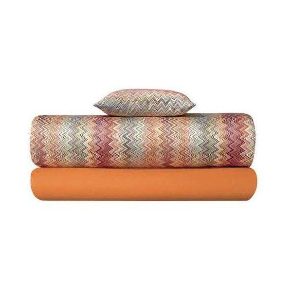 Missoni Home John Orange Duvet Cover ($591) ❤ liked on Polyvore featuring home, bed & bath, bedding, duvet covers, multicolor, multi color bedding, orange chevron bedding, zig zag bedding, zigzag bedding and multi color chevron bedding