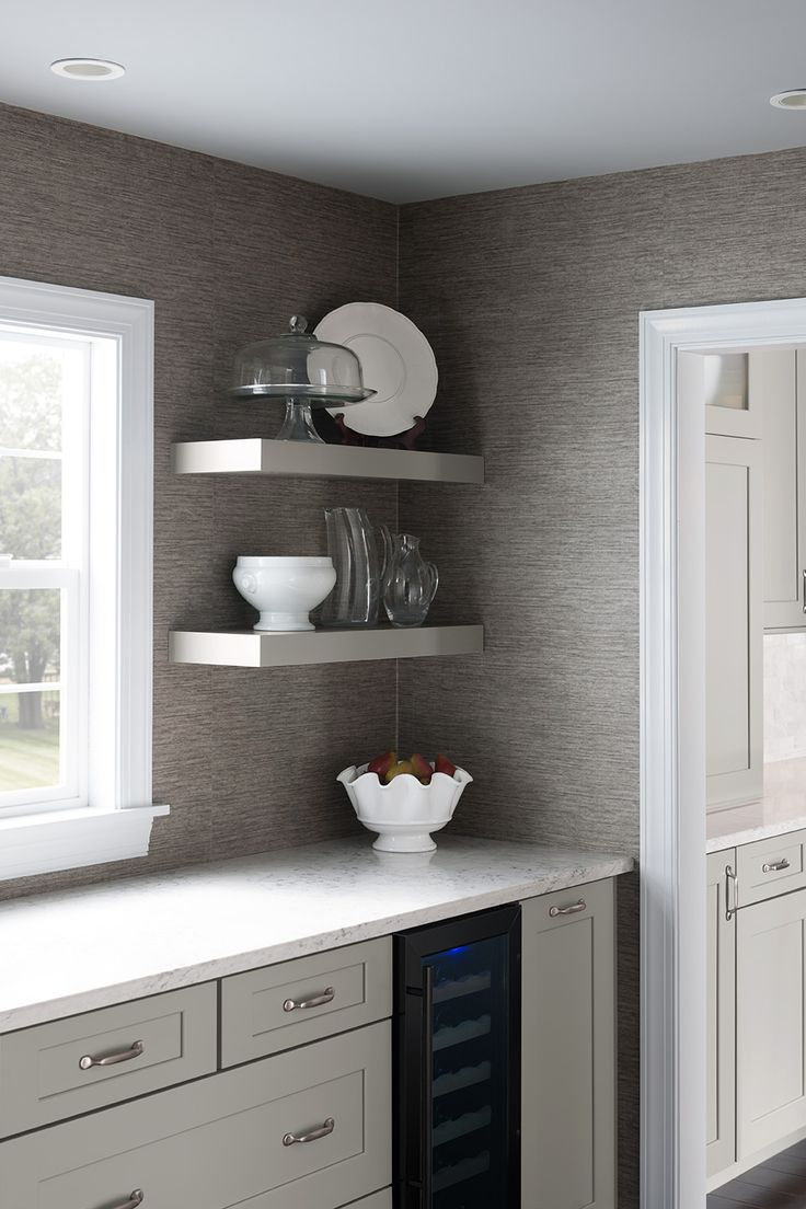 Best Shenandoah Cabinetry Floating Shelves In Stone Mission 640 x 480
