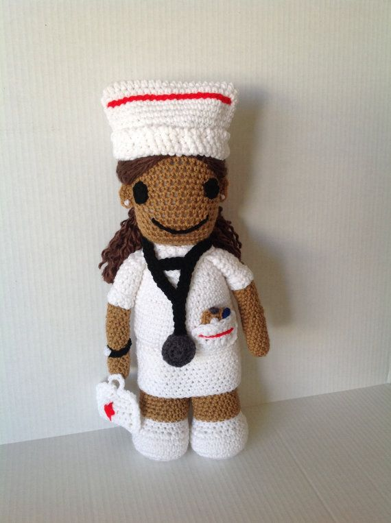 17 inches  Ethnic Nurse Doll - Cheerful African American Doll for sale by eHarvestJewelries. Pin now visit link later!