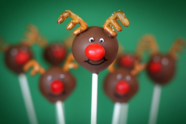 Reindeer Cake Pops by Bakerella, - #Christmas Traditions #Holiday Baking #Homemade Food Gifts
