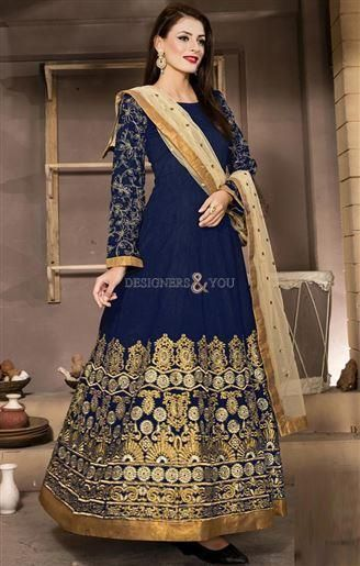Designer Anarkali Frocks Design For Ladies With Heavy Work http://www.designersandyou.com/dresses/anarkali-suits #Design #Anarkali #Frock #Heavy #Work #Suit #DesignerAnarkali #HeavyAnarkali #BestFrock #