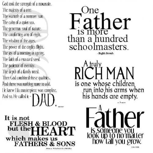 "Father Son Quotes Tattoos Pin Fathers Day Quotes Happy: ""A Father Is Someone You Look Up To No Matter How Tall You"