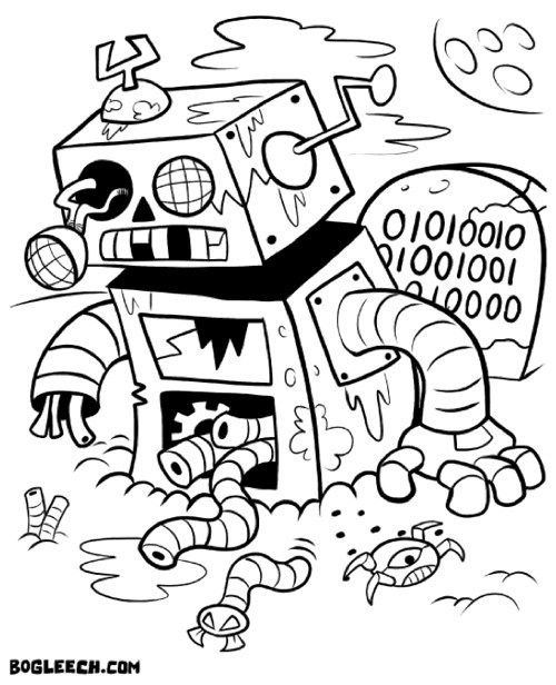 morbid coloring pages - photo#39
