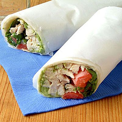 Guacamole Chicken Wraps...need we say more? Plus, your kids will go crazy for them! #backtoschool #recipes | Health.com