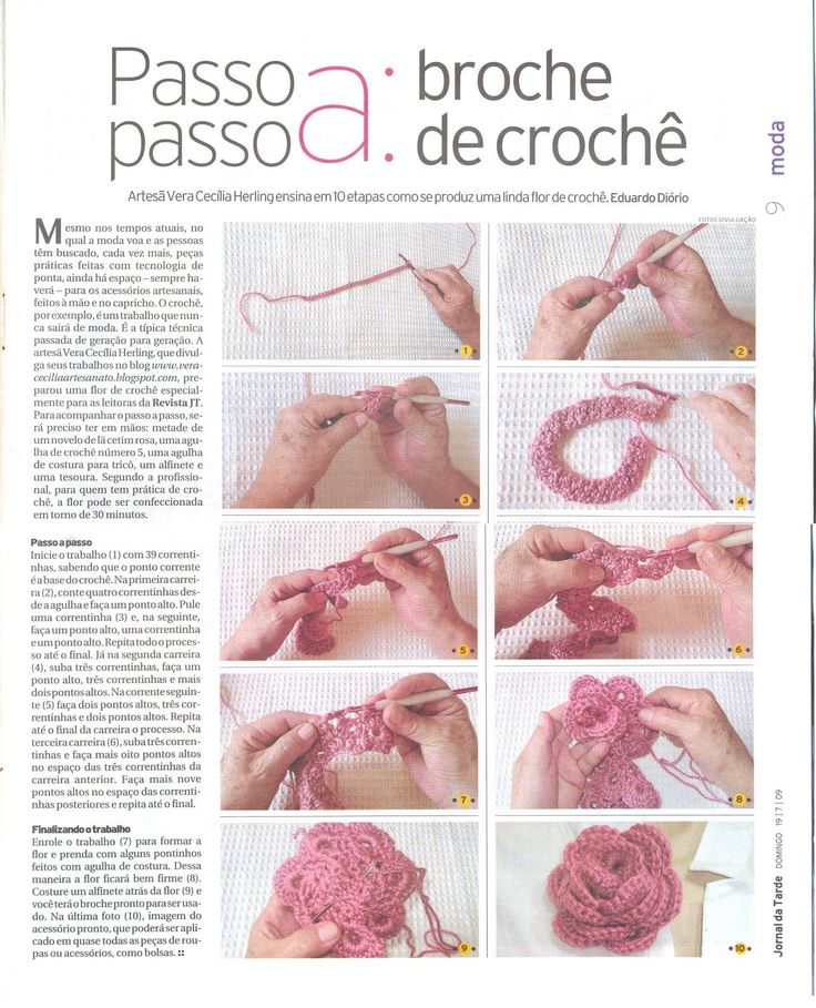 rosa a crochet paso a paso « Mis tejidos palillo y crochet y algo mas…