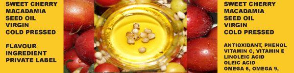 Australian Sweet Cherry and Macadamia Seed Oil botanical innovations.com.au