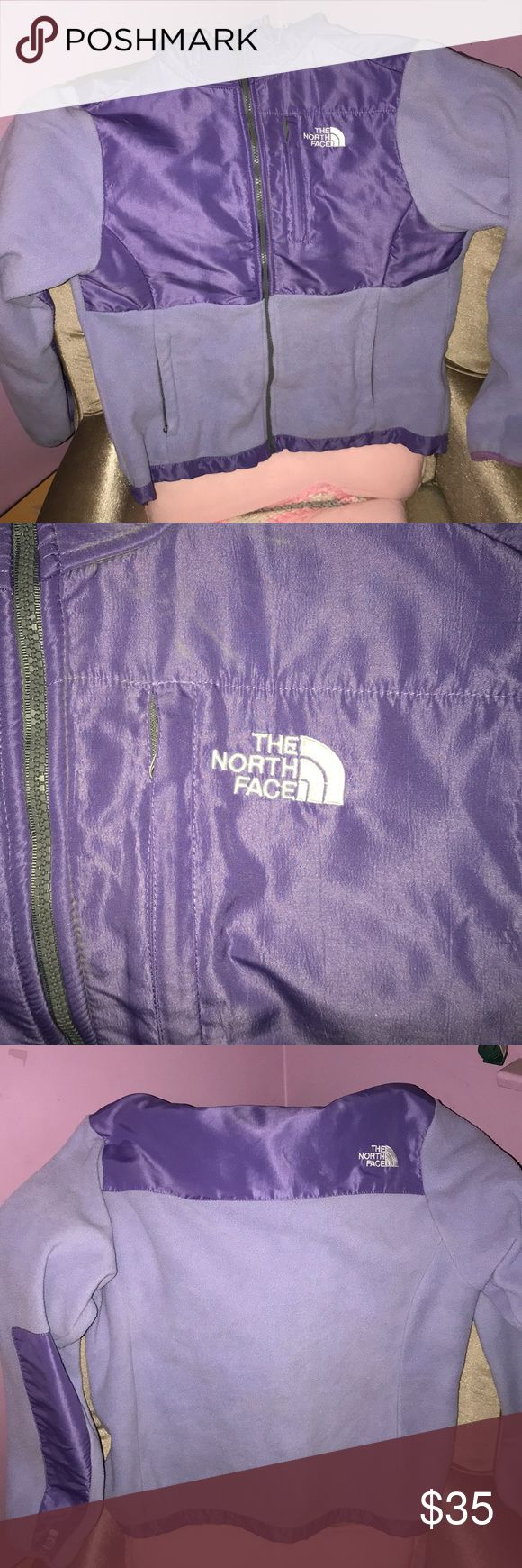 Northface jacket Lilac northface with darker purple chest and elbows. Bought on here and it sadly doesn't fit like my other ones does so I'm just trying to get back what I paid for it. There are no stains or marks on this it's in great condition. XL women's The North Face Jackets & Coats