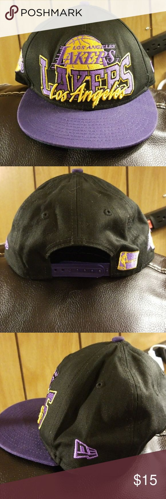 Like New Boy's LA Lakers Hat From LIDS Like new boy's LA Lakers hat from LIDS worn only 2 times.  Comes from a smoke free home. NBA Accessories Hats