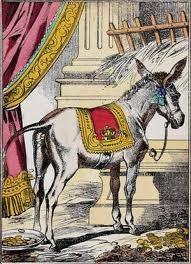 Dessin d'Epinal, vers 1870, pour le conte de Peau d'Ane de Charles Perrault.