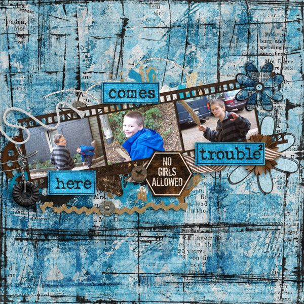 Here comes trouble - Boys World by Created by Jill - http://bit.ly/1KZbYP6