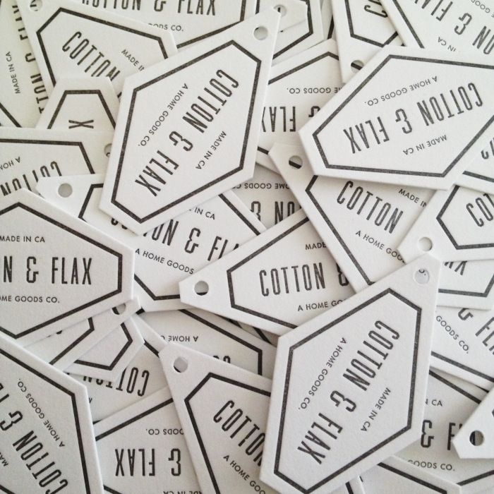 Cotton & Flax hang tags
