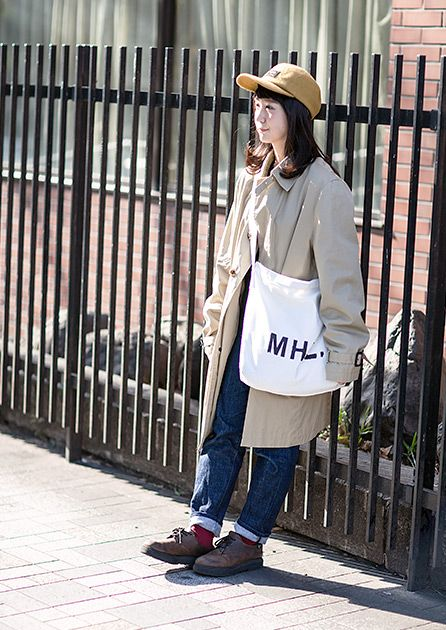 FUDGE.JP – Snap No.1106  Outer : used Tops : UNIQLO Bottoms : UNIQLO Shoes : used Bag : MHL Other : used