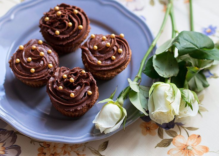 Home charms: Двойные шоколадные маффины